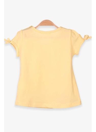 Breeze Kız Çocuk Tişört Flamingo Baskılı Pullu Nakışlı Sarı (2-6 Yaş) Sarı
